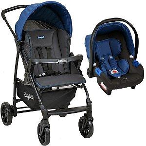 Carrinho de Bebe Para Passeio Até 15Kg Travel System Ecco Burigotto Azul