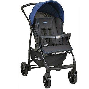 Carrinho de Bebê Passeio Reclinavel Nascimento Até 15 Kg Ecco Burigotto Azul