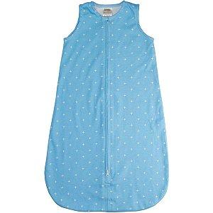 Saco para Bebê Dormir De 0 até 6 Meses 100% Algodão Sleeping Bag Azul - Comtac Kids