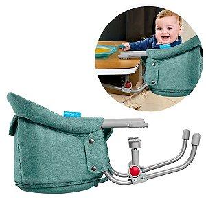 Cadeira De Alimentação Bebê Refeição Encaixe Na Mesa Click Clip Multikids Azul