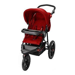 Carrinho de Bebê Passeio 3 Rodas Travel System Reclinável Com Bebê Conforto Fisher Price Expedition Vermelho