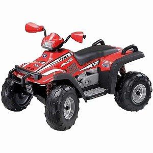 Quadriciclo Elétrico Infantil Dois Lugares 3 Marchas 12V Brinquedo Criança Até 50Kg Polaris Sportsman 700 Twin-New Verme