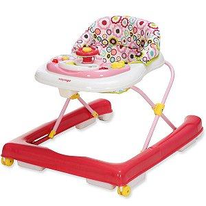 Andador Bebê Musical Antiqueda Interativo Brinquedos Buggy Voyage Rosa