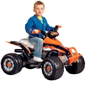 Quadriciclo Elétrico Infantil 3 Marchas 12V Brinquedo Criança T-Rex Arancio Peg Perego Laranja