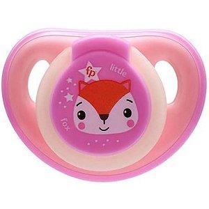 Chupeta Para Bebê Com Estojo Esterilizado Brilha No Escuro 6-18 Meses First Moments Glow Fisher Price Rosa