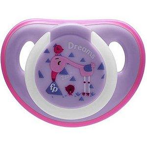 Chupeta Para Bebê Com Estojo Esterilizado Brilha No Escuro 0-6 Meses First Moments Glow Fisher Price Rosa