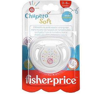 Chupeta Para Bebê Com Estojo Esterilizado 0-6 Meses Tam 1 Soft Fisher Price Rosa