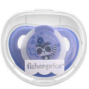 Chupeta Para Bebê Com Estojo Esterilizado Brilha No Escuro 0-6 Meses First Moments Glow Fisher Price Azul