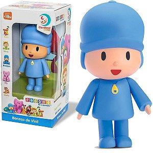 Brinquedo Boneco Pocoyo Divertido Infantil Criança + 18 Meses Vinil Atóxico Cardoso Toys
