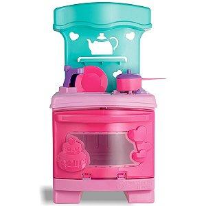 Brinquedo Infantil Cozinha Sonho de Menina com Suporte para Celular e Acessórios Sweet Fantasy +3 anos Cardoso Toys