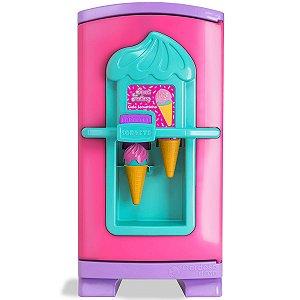 Brinquedo Infantil Geladeira Divertida Gela Sorvetinho Menina Sweet Fantasy Faz Sorvete de Verdade +3 anos Cardoso Toys