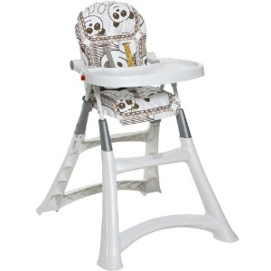 Cadeira de Refeição Bebê Portátil Alimentação 0 Até 15Kg Alta Premium Galzerano Panda 5070PA