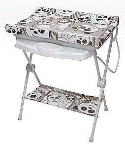 Banheira Para Bebê Com Trocador Suporte 0 Até 15Kg Máximo 20 Litros Luxo Galzerano Panda