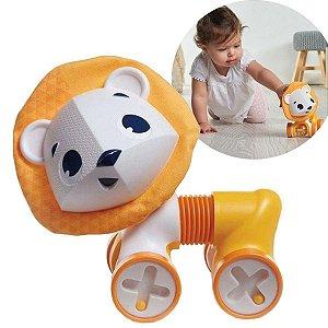 Brinquedo Bebê Educativo Infantil A partir 3 Meses Sanfonado Carrinho Rolling Tiny Love Leonardo IMP01851