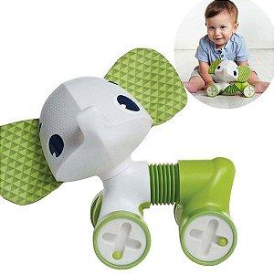 Brinquedo Bebê Educativo Infantil A partir 3 Meses Sanfonado Carrinho Rolling Tiny Love Samuel IMP01853