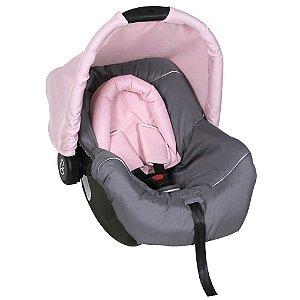 Bebê Conforto Cadeirinha Auto Carro 0 Até 13Kg Dispositivo de Retenção Piccolina Galzerano Preto Grafite Rosa