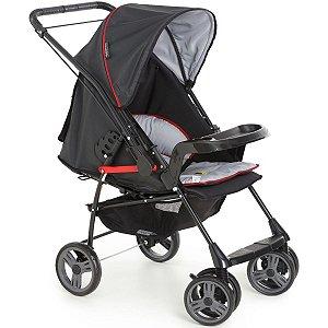 Carrinho Para Bebê Até 15Kg Passeio Berço Travel System Alça Reversível 0 Até 15Kg Milano Galzerano Preto