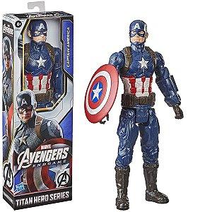 Boneco Infantil Articulado Capitão América 30 cm Vingadores Marvel Disney Para +4 Anos - Hasbro