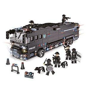 Bloco Montar Operações Especiais Ônibus Tático de Apoio 1092 pçs