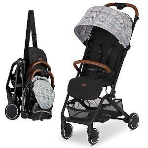 Carrinho de Bebê Passeio Reclinável De 0 meses até 15kg Ping Xadrez Abc Design