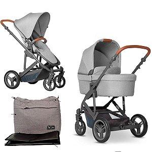Carrinho de Bebê Passeio Travel System Trio Reversivel Reclinavel 2 em 1 Com Moisés e Bolsa 0 a 22Kg Como 4 ABC Design W