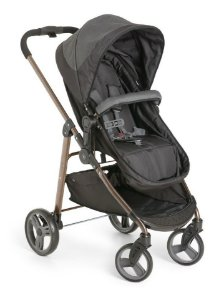 Carrinho de Bebê Passeio 3 em 1 Nascimento Até 15Kg Tavel System Berço Moises Olympus Galzerano Black