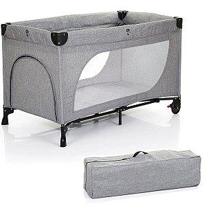 Berço de Bebê Infantil Portátil Até 20Kg Viagem Moonlight Grey - Abc Design