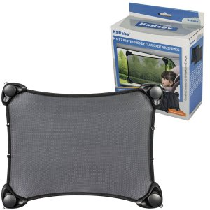 Kit 2 Protetores Ajustavel Para Janelas do Carro Contra Luz UV Proteção Solar Guarda Sol Com Ventosas Kababy