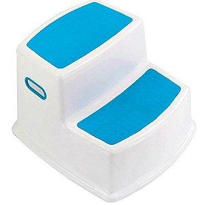 Banquinho de Banheiro do Bebê 2 Degraus Multiuso Infantil Azul - KaBaby