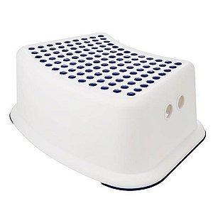 Banquinho de Banheiro do Bebê 1 Degrau Multiuso Infantil Azul - KaBaby