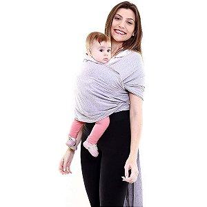 Canguru Bebê Infantil 3,5Kg a 16Kg Segurança Wrap Sling Kababy Cinza Mescla