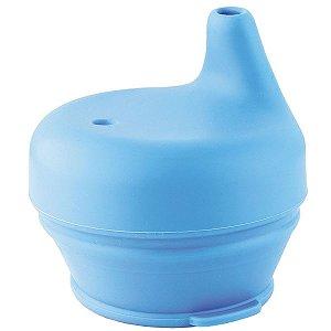 Tampa Para Copo Em Silicone Antivazamento Bico de Treinamento Infantil Bebê Azul Kababy