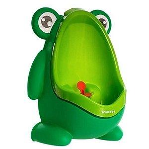 Mictório Infantil Criança Sapinho Desfralde 2 Em 1 Acima de 3 Anos Stand Up Verde Claro K Baby