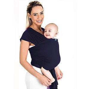 Canguru Bebê Infantil 3,5Kg a 16Kg Segurança Wrap Sling Kababy Azul Marinho