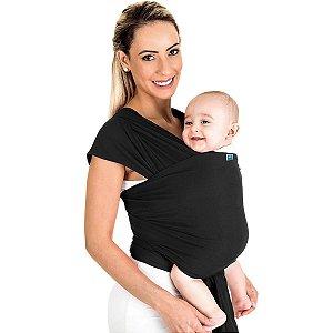 Canguru Bebê Infantil 3,5Kg a 16Kg Segurança Wrap Sling Kababy Preto