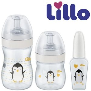 Kit Evolution do Bebê Neutro Antivazamento com 3 Mamadeiras 50ml, 150 ml, 240 ml - Lillo