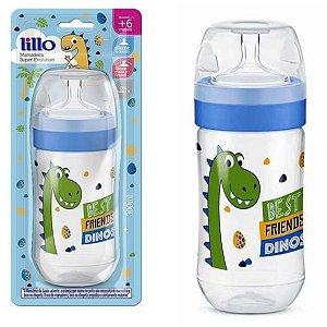 Mamadeira Bebê Bico de Silicone +6 Meses Tam 2 Com Medidor Super Evolution Lillo Menino