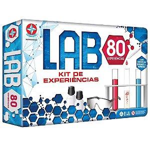 Kit de Experiências Científcas Infantil Lab 80 +10 Anos Estrelas