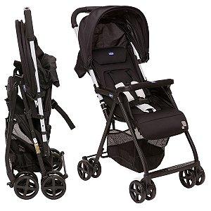 Carrinho de Passeio de Bebê Reclinável Oh Lalá 2 De Recém Nascido a 15kg Black Night - Chicco