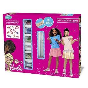 Kit de Tatuagem Infantil Com Glitter +3 Anos Barbie Mattel