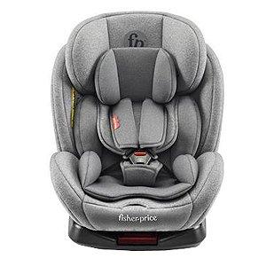 Cadeira Infantil para Auto Isofix Reclinável 360° Grupos 0,1,2,3 A Partir de 0 a 36kg Snug Fix Cinza - Fisher Price