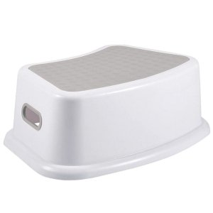 Banquinho de Banheiro do Bebê 1 Degrau Multiuso Infantil New Style Cinza - KaBaby