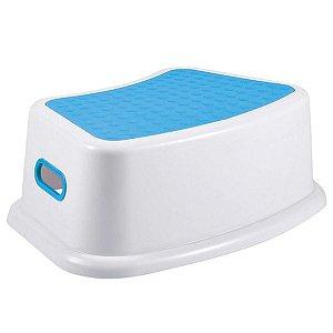 Banquinho de Banheiro do Bebê 1 Degrau Multiuso Infantil New Style Azul - KaBaby