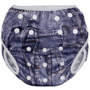 Sunguinha Bebê Infantil Piscina Ajustável Tamanho M Jeans Comtac