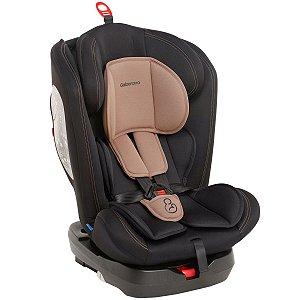 Cadeirinha Infantil para Auto Isofix Reclinável 360° Grupos 0,1,2,3 A Partir de 0 a 36kg Preto Cappuccino - Galzerano
