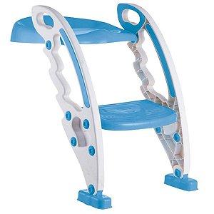 Assento Redutor Com Escada Bebê Vaso Sanitário +3 Anos Até 50 Kg Dobravel Portatil New Style Kababy Azul