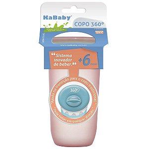 Copo de Bebê Infantil 360º Antivazamento 290ml +6 Meses Sport Kababy Rosa