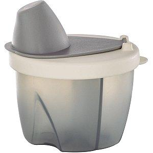 Pote Dosador para Leite em Pó com 3 Divisórias Livre de BPA Cinza - Kababy