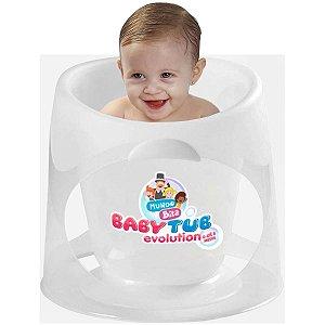 Banheira de Bebê BabyTub Evolution Ofurô De 0 até 8 Meses Transparente Mundo de Bita