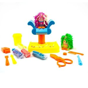 Brinquedo Infantil Cabeleireiro Maluco Massinha Polidoh Com Acessórios +3 Anos